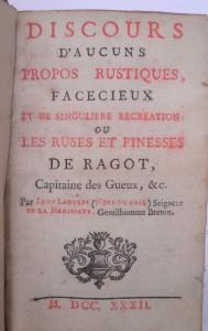 Noel du Fail : Propos rustiques -1732