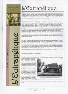 L'EUTRAPELIQUE Bulletin trimestriel de l'ANF
